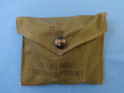 Us Army Gas Mask Waterproofing Kit Wwii M1 Unissued Original D Day Landing Type