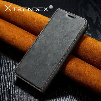 For iPhone 11 Pro XS Max Genuine TRENDEX Magnetic Leather Wallet Flip Case Cover