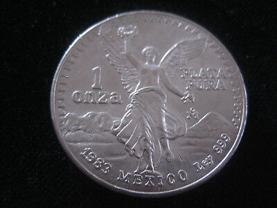 Mds Mexique Mexico Libertad 1983, 1 Once Argent #1