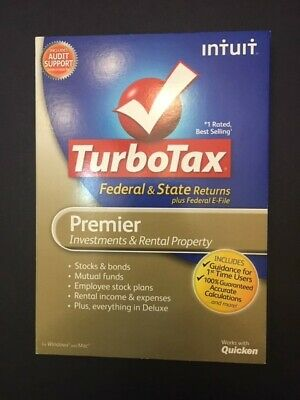 2008 Intuit TurboTax Home & Business Federal & State PC Mac