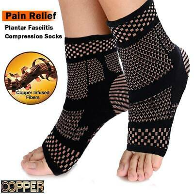 Plantar Fasciitis Compression Socks COPPER Ankle Brace Support Foot Pain Relief