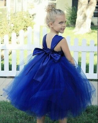 Satin Tutu Flower Girl Dresses Baptism Dresses Wedding Dress Graduation Dresses
