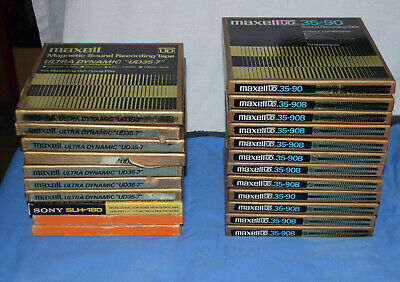 19 MAXELL REEL TO REEL TAPES recorded on plus others Lots of 70's music!!!!