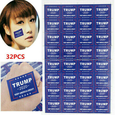 32PC 2020 Donald Trump for President Make America Great Again Body Stickers New