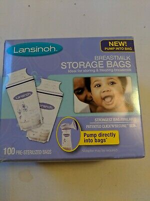 Lansinoh Breastmilk Storage Bags 100 Count Breast Milk Freezer Sterilized