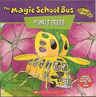 Magic School Bus Plants Seeds : A Book about How Living Things Grow-ExLibrary