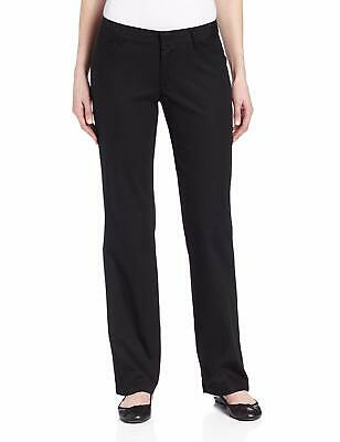 Dickies Women's Relaxed Straight Stretch Twill Pant, Black, 6 Regular