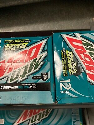 New 12 Pack Mountain Dew Baja Blast Cans. NOT EXPIRED STILL GOOOD