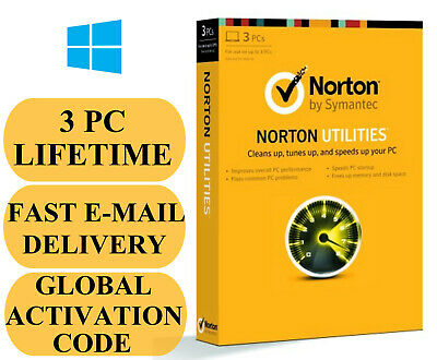 Norton Utilities 3 PC / Lifetime (Global Activation Key) 2019 Email Only NO CD!!