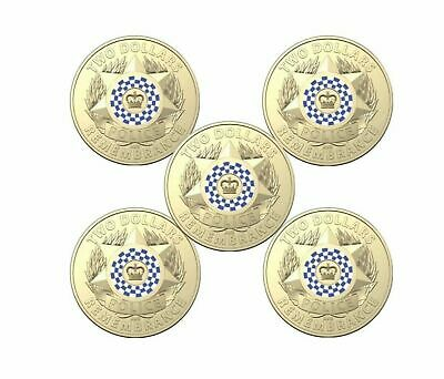2019 Police Remembrance Day Unc $2 in a RAM bag of 5 coins.