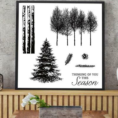 Trees For DIY Silicone Clear Stamp Cling Seal Scrapbook Embossing Album Decor