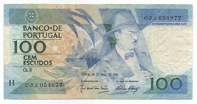 PORTUGAL 100 Escudos 1988 Circulated Fine Condition