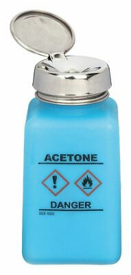 Wide Mouth Square Graduated Acetone Dispensing ESD Bottle, Dispensing, Plastic,