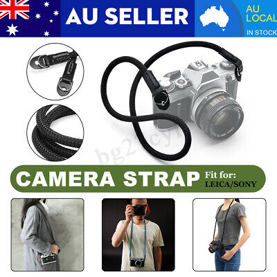HandMade Rope & Leather Braided Camera Single Shoulder Neck Strap For Leica  AU