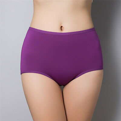 Women Underwear Seamless Plus Size Panties High Waist Briefs Eyeful
