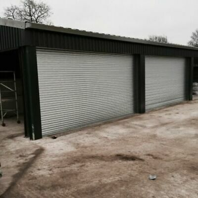 INDUSTRIAL GALVANISED ELECTRIC ROLLER SHUTTERS - All Sizes Available