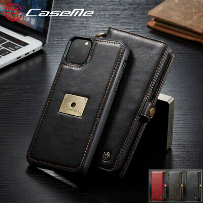 Fr iPhone 11 Pro Xs Max Xr 7 8 Removable Leather Case Magnetic Flip Wallet Cover