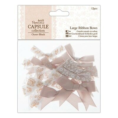 LARGE RIBBON BOWS - Oyster Blush Capsule Collection - Docrafts