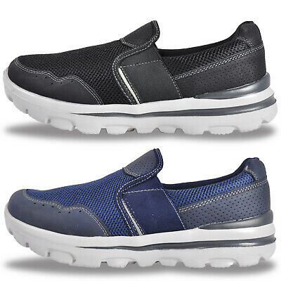 Mens Walk Pro MEMORY COMFORT FOAM Slip On Casual Trainers From £14.99 FREE P&P