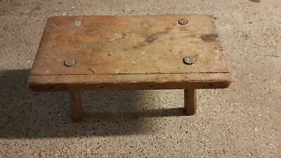 Antique Victorian dairy milking stool/ table