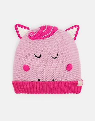 Joules Girls Chummy Character Bobble Hat in PINK HORSE