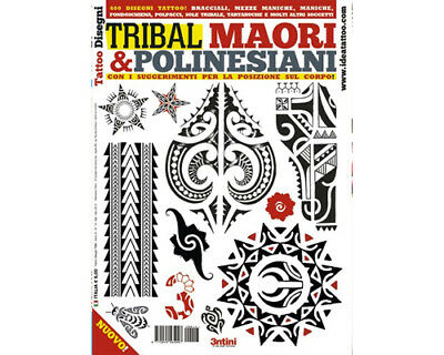 Tribal Maori Polynésien Tatouage Flash Motif Livre 64-Pages Color Noir Blanc Art