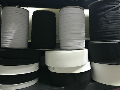FLAT ELASTIC - CORDED & WOVEN ~ PREMIUM QUALITY~ VARIOUS SIZES~SAME DAY DiSPATCH