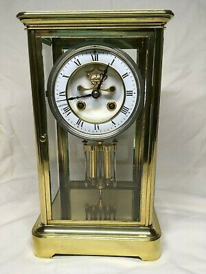 Four Glass French Clock by A.D. Mougin. Overhauled. Brocot escapement. Mid 19thC