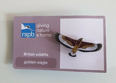 """Brand New """"RSPB GOLDEN EAGLE"""" Pin Badge (FREE POSTAGE / SAME DAY DISPATCH !!)"""