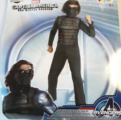 NIP Captain America Winter Soldier Halloween Costume size  large 12-14 NEW