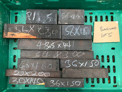FSC 100% African blackwood grenadilla turning blank spindle AUCTION BUNDLE 5