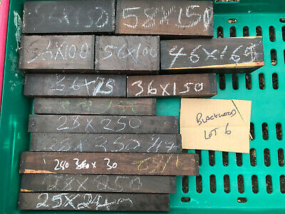 FSC 100% African blackwood grenadilla turning blank spindle AUCTION BUNDLE 6