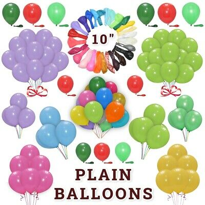 20 X Latex PLAIN BALOON BALLONS helium BALLOONS Quality Party Baby Pink