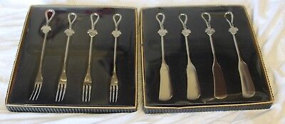 New matching sets of 4-forks and 4-Butter Knifes with Flowers