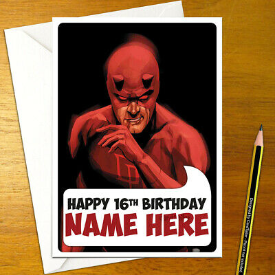 DAREDEVIL Personalised Birthday Card personalized charlie cox punisher kingpin