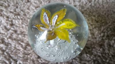 Bubbled Flower paperweight