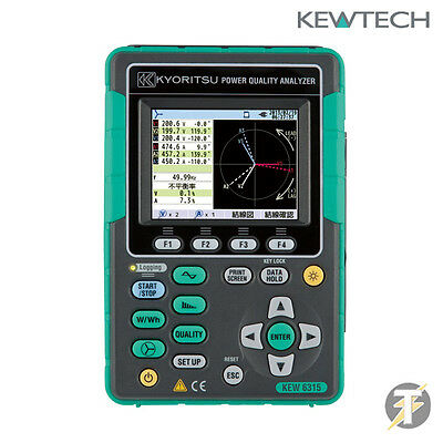Kewtech Kyoritsu KEW6315 Power Quality Analyser