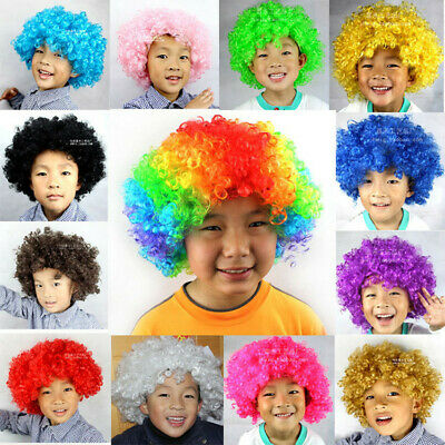 Afro Wig Fancy Dress Funky Disco 70S 80S Hair Clown Curly Kids Adults Costume
