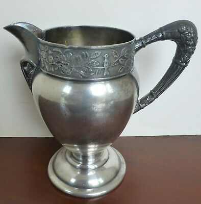 Antique Small Barbour Bros. Silver Plate Pitcher #325