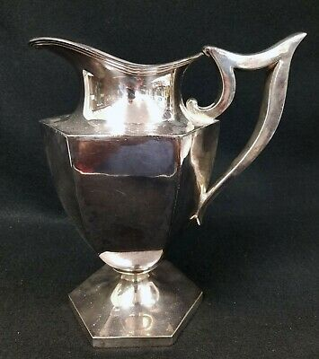 Vintage Antique Derby International Silverplate Pitcher Chippendale - Perfect!