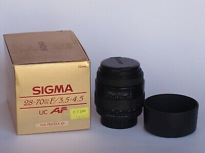 Sigma 28-70mm F3.5-4.5 Auto Focus UC Zoom Lens for Pentax K Mount