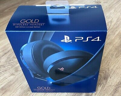 Gold Headset Wireless 500 Million Limited Edition Ps4 Playstation 4 3 Cascos