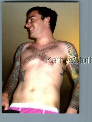 Gay Interest Photo R+3924 Shirtless Man With X Hair On Chest