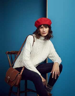 Joules Womens Cara Cable Jumper in CREAM Size 6