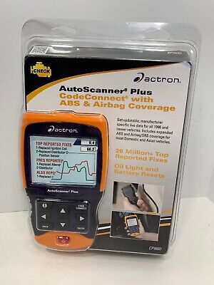 Actron CP9680 AutoScanner Plus Code Connect with ABS & Airbag Coverage, NEW!