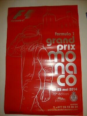 Affiche Poster Formula1 F1 Rally Course Automobile Grand Prix De Monaco 2014