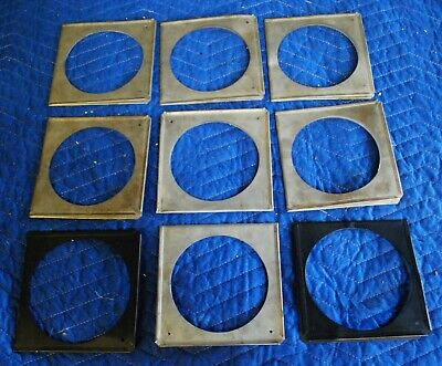 """Lot Of 9 Silver Gel Holders For Etc Source Four & Source Four Jr-6 1/4"""" X 6 1/4"""""""
