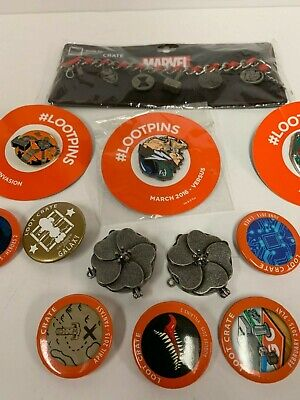 *LOT SALE: 13 ct. Collectible LOOT CRATE Collector Marvel Bracelet, Walking Dead