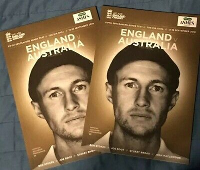 England Vs Australia Official 5th & Final Test Ashes 2019 Programme At Kia Oval