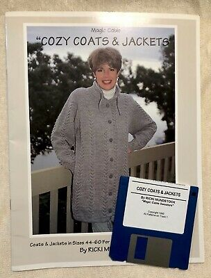 Cozy Coats & Jackets Magic Cable Machine Knitting Ricki Mundstock patterns book